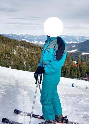 Личный комбинезон для лыж светло-синего цвета calmo canada m l