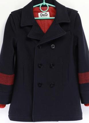 Фирменное детское шерстяное пальто
