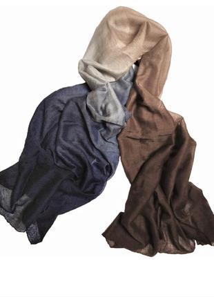 Шикарный кашемировый палантин шарф hermes cashmere silk multicolor nepal /4098/