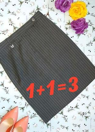 🌹1+1=3 фирменная серая теплая юбка-карандаш (40% шерсть) michael kors, размер 44 - 46