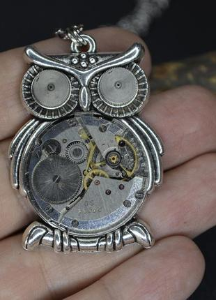 Кулон сова в стиле стимпанк steampunk