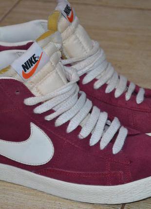 Nike blazer 38р высокие кроссовки замша. оригинал сникерсы