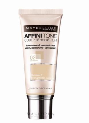 Maybelline new york affinitone тональный крем 02 слоновая кость