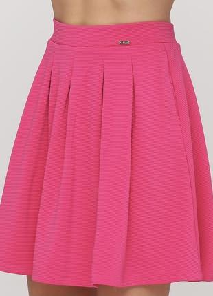 Яркая розовая юбка mohito солнце в идеале