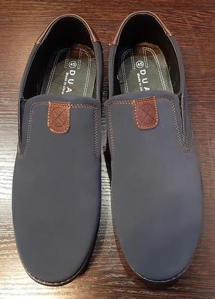 Мужские туфли нубук выворотка