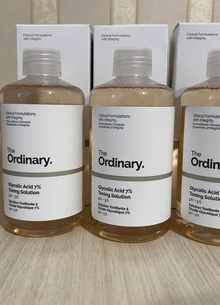 Тоник the ordinary glycolic acid 7%