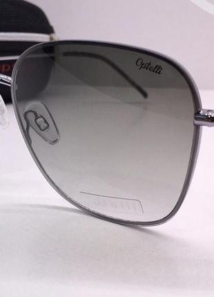 Optelli очки женские солнцезащитные зеленые бабочки с поляризоваными линзами