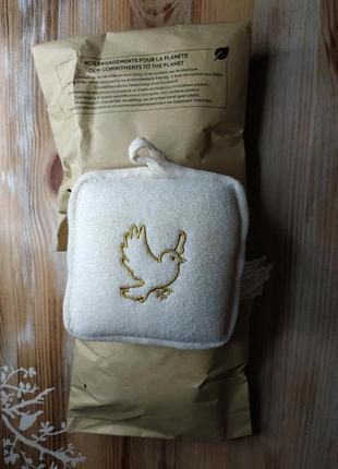 Мочалка для ванны и душа 12*12*4 см в упаковке