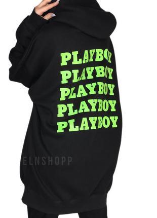 💚 худи на флисе от playboy + missguided