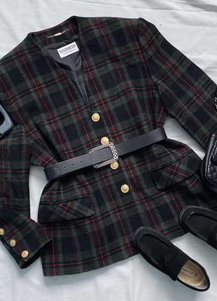 Просто любовь)) windswood винтажный клетчатый жакет- пальто м- l