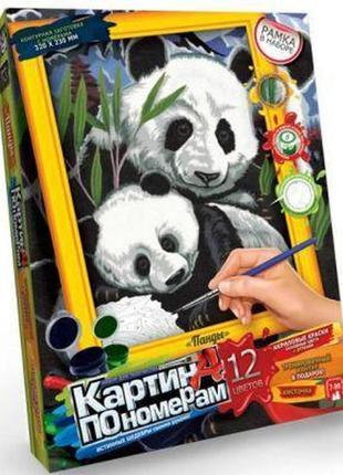Картина по номерам панды