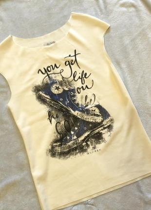 Біла нова футболка італія fly&love
