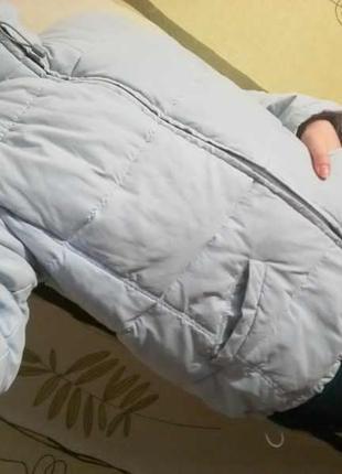 Нежно-голубая куртка на зиму / пуховик от esprit