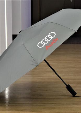 Зонт krago с автомобильными логотипами, полный автомат, 10 спиц, ручка с дизайном автошины