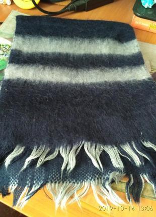 Великолепный шерстяной шерсть мохер ангора шарф мужской, унисекс.