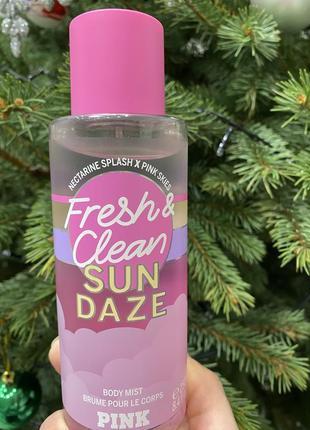 Спрей мист для тела fresh & clean sun daze от виктория сикрет victoria's secret pink