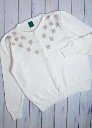 💥1+1=3 базовый женский белый свитер canda, размер 50 - 52