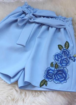 Высокие шорты с вышивкой / ексклюзивні шорти з вишивкою