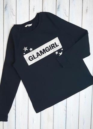 Женский черный свитшот свитер на флисе clockhouse, размер 46 - 48
