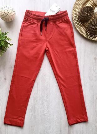 Красные стильные качественные спортивные штаны для мальчика ovs kids италия