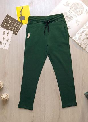 Зеленые качественные утепленные спортивные штаны для мальчика подростка ovs kids