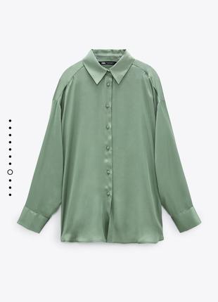 Сатиновая блуза zara