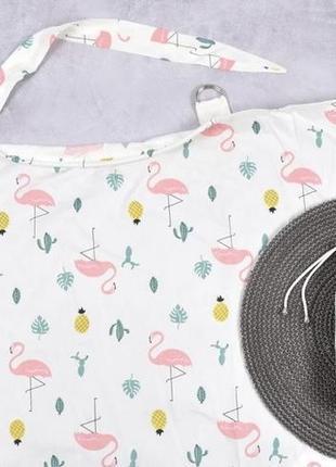 Накидка для кормления + сумочка-чехол, кактусы и фламинго magbaby