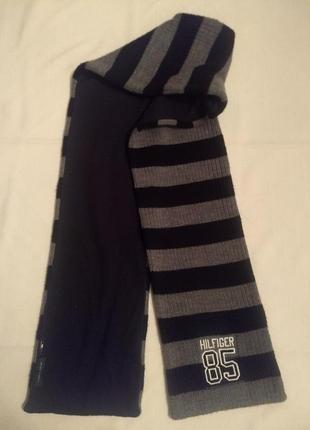 1 + 1 = 3 шарф tommy hilfiger оригиал двойной большой теплый шалик+300 шарфов на странице