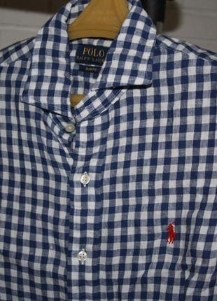 Рубашка лен polo ralph lauren