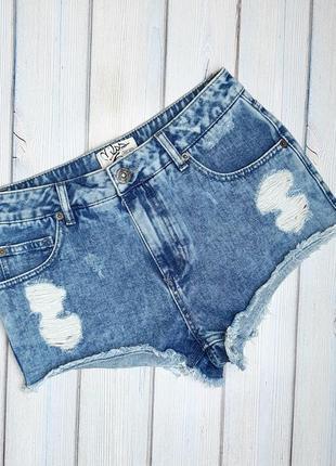 💥1+1=3 фирменные джинсовые короткие шорты miss selfridge, размер 44 - 46