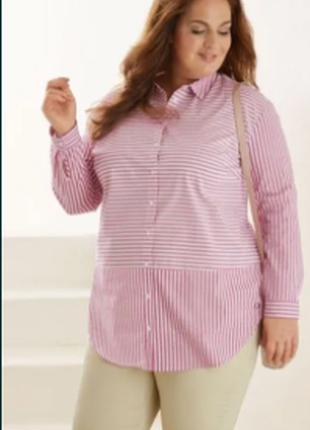 Акция esmara германия 50,52,54,56,58,60 шикарная рубашка туника блузка платье, хлопок