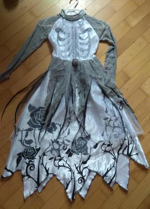 Карнавальне плаття на 9-10 років,ріст 135-140см.