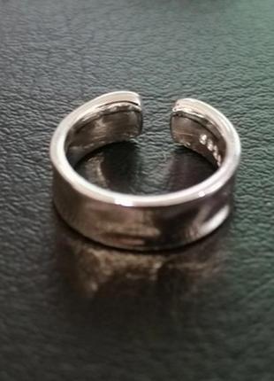 Клипса серьга стерлинговое серебро