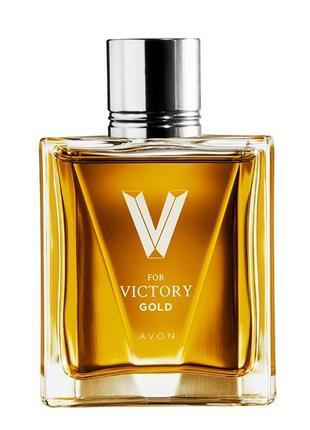 Розпродаж!!! туалетна вода avon эйвон ейвон v for victory gold для нього (75 мл)