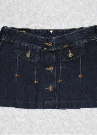 Lee тёмно-синяя джинсовая мини-юбка