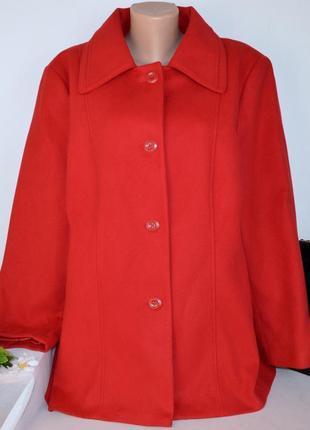 Красное демисезонное пальто с карманами anthology бангладеш большой размер этикетка