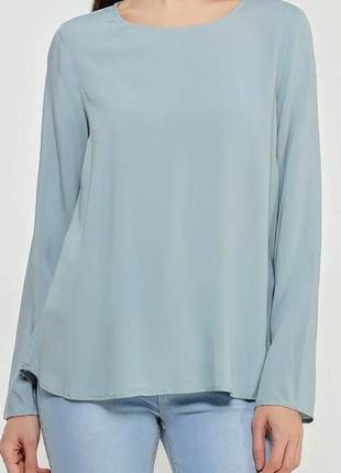 Блуза рубашка серо-голубая блузка