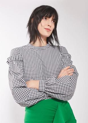 """Блуза с объемными рукавами """"topshop"""""""