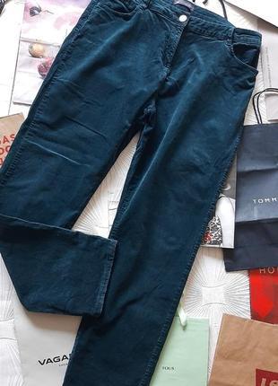 🎄 крутые микровельветовые джинсы красивого изумрудного цвета