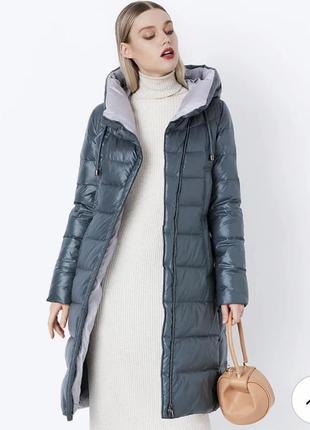 Шикарна дуже тепла зимова куртка на холофайбері біо-пух