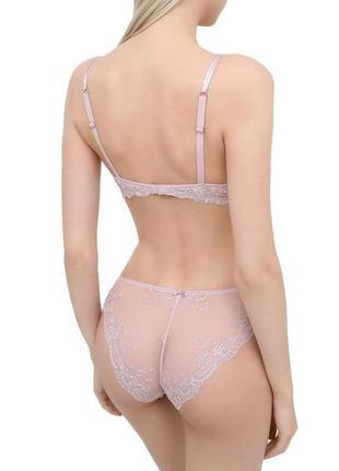 Кружевные трусики слипы)нежно-розовые)c&a lingerie