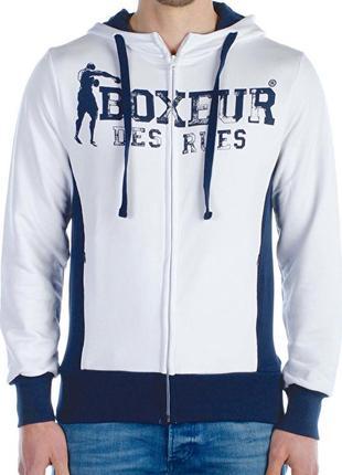 Теплая кофта на молнии новая коллекция boxeur des rues ® zip hoodie
