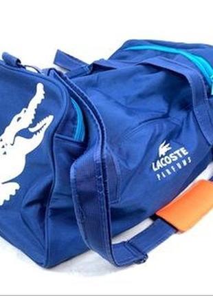Cпортивная сумка новая коллекция lacoste ® sports blue crocodile duffle