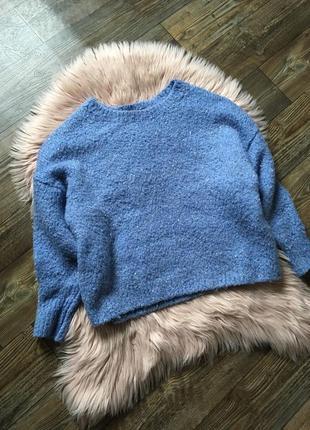 Теплющий свитер оверсайз с пайетками f&f