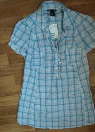 Рубашка классная хлопковая рубашка в клетку от h&m