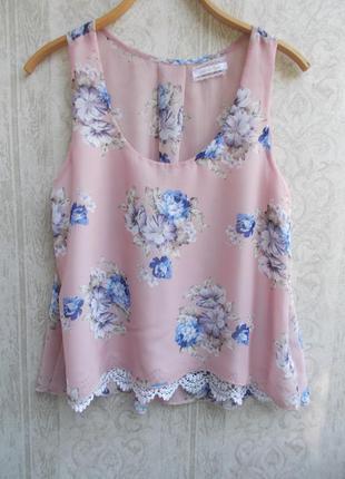 Летняя распродажа легкая шифоновая блузка с кружевом jennifer taylor