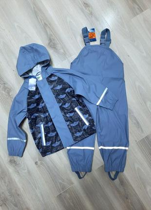 Комплект дождевик куртка и полукомбинезон оба без подкладки lupilu 98/104 см кораблики