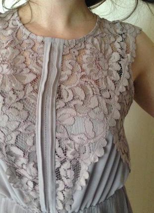Изысканное шифоновое платье от h&m.