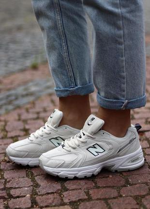 New balance 530 white cream 🍏 стильные женские кроссовки