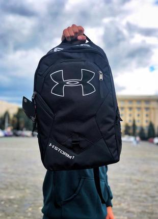 Under armour black packback рюкзак 20л андер армор